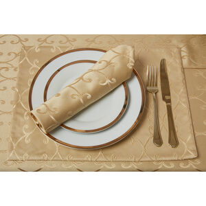 Scroll Placemat Gold - 2 Pack