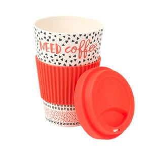 Need Coffee Bamboo Sippy Mug