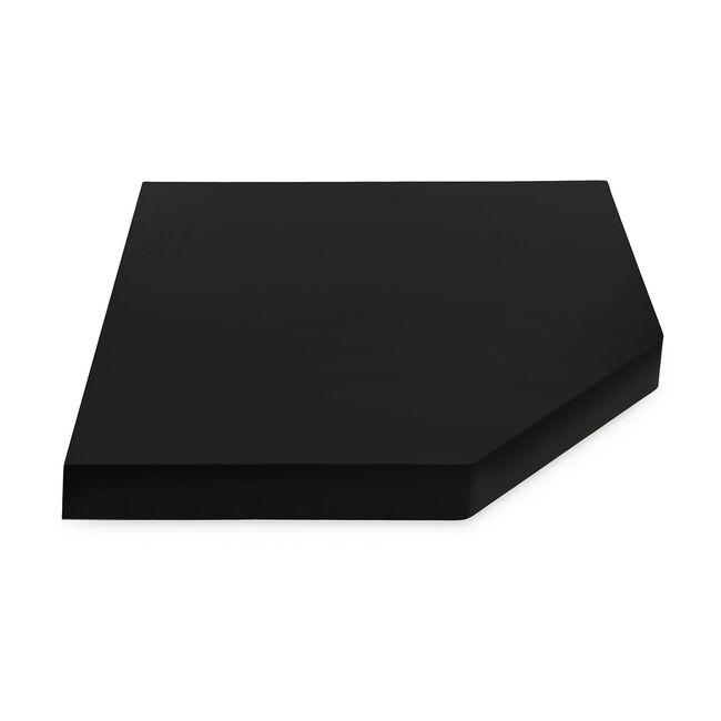 Bergen Corner Black Floating Shelf