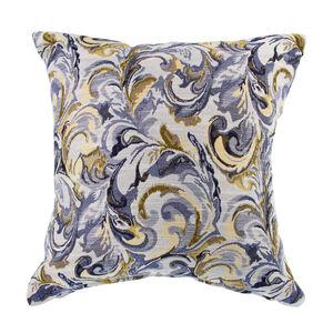 Mary Leaf Navy Cushion 45cm x 45cm