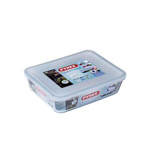 Pyrex COOK & FREEZE Square Dish with lid 2L