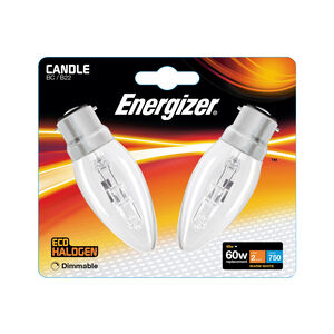 Eco Clear BC (B22) 2 Halogen Candle Bulbs 48W