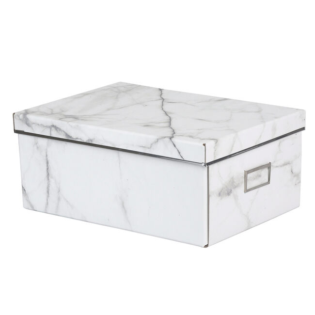 Large Marble Collapsible Storage Box