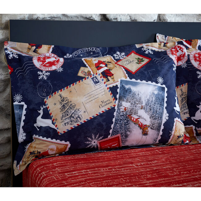 Sleigh Mail Oxford Pillowcase Pair