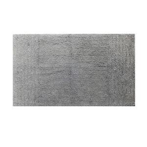 Cotton Metallic Frost Grey Bath Mat