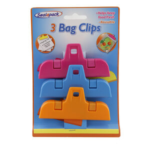 Sealapack Large Bag Clips - Set of 3
