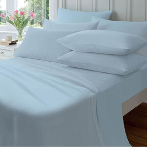 SINGLE FITTED SHEET  Flannelette Blue