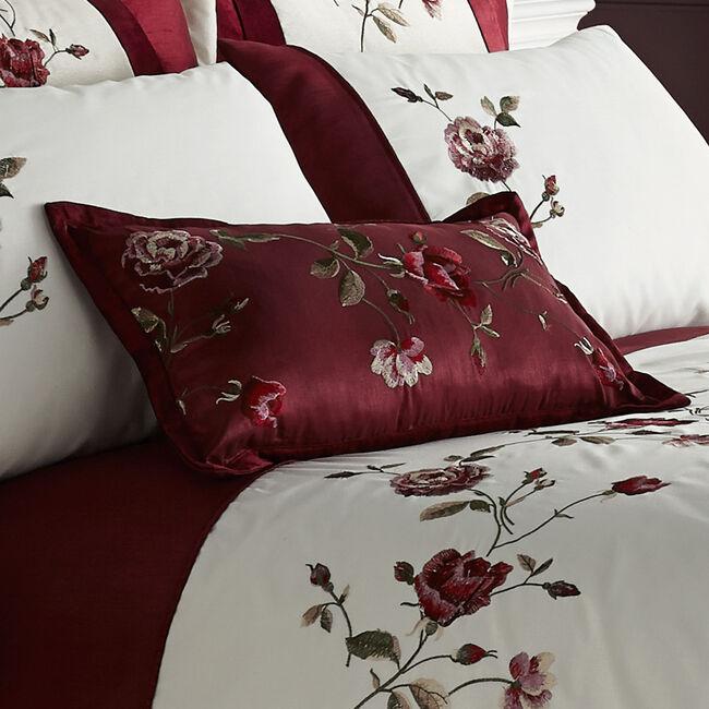 Antique Rose Red Cushion 30cm x 50cm