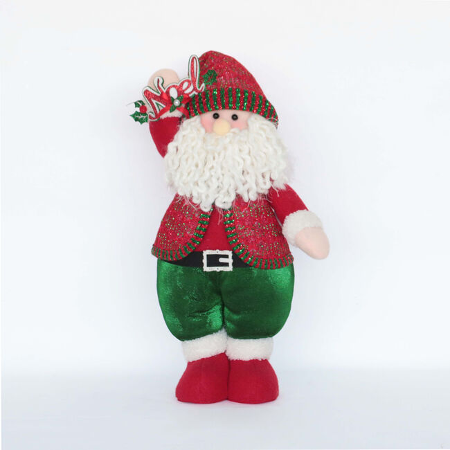 Red and Green Standing Santa 15""