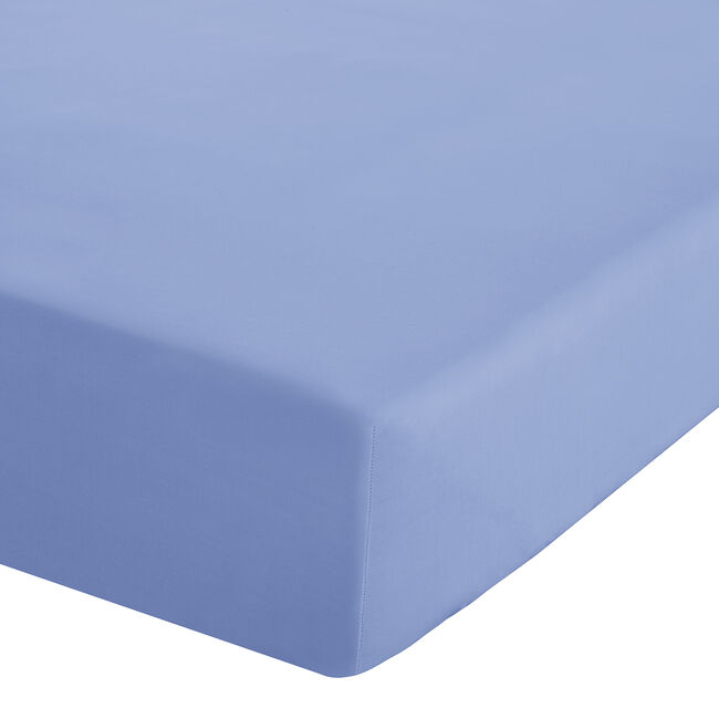 SINGLE FITTED SHEET Luxury Percale Cornflower