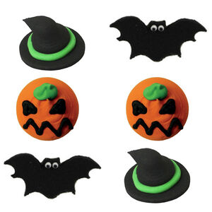 Halloween Spooky Handmade Icing Cake Toppers