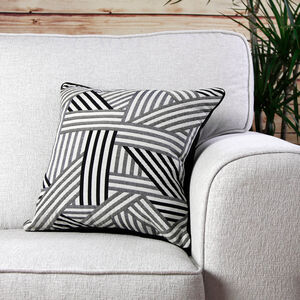 Geo Cushion Cover Black 2 Pack 45cm x 45cm