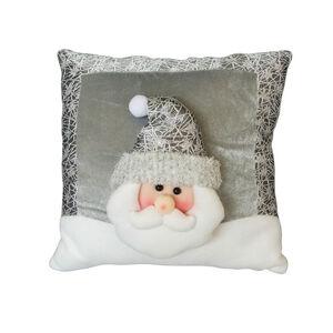 Luxury Silver Santa Cushion