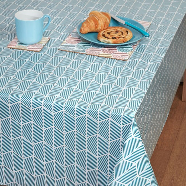 Griffen Teal Tablecloth 140x180cm