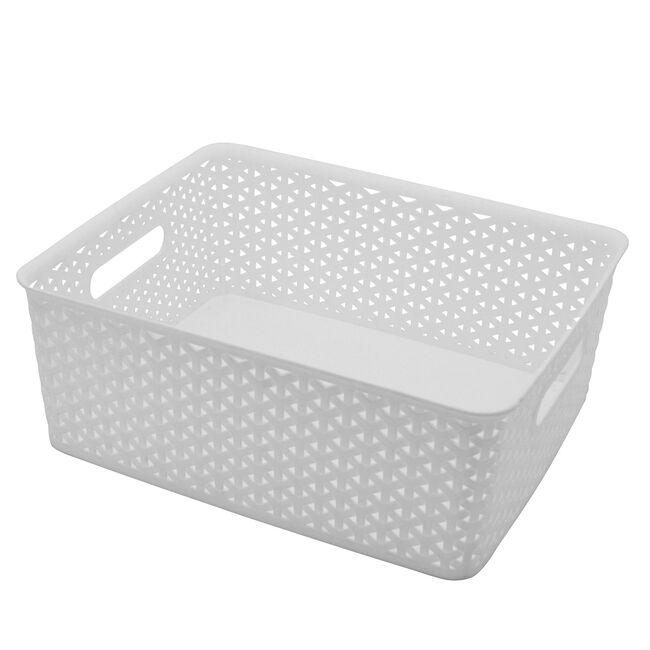 Geometric 14.5L White Basket