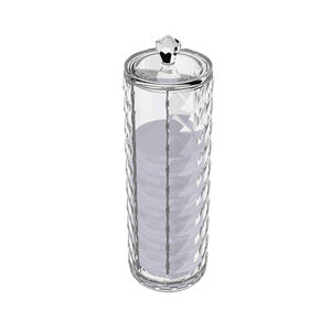 Cosmetic Diamond Round Cotton Storage Unit