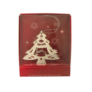 Silver Christmas Tree Decoration 3D