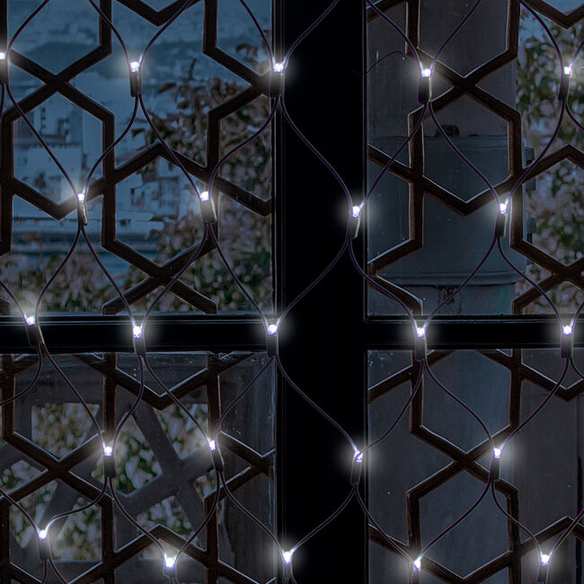 100 Bright White Connectable Net Lights