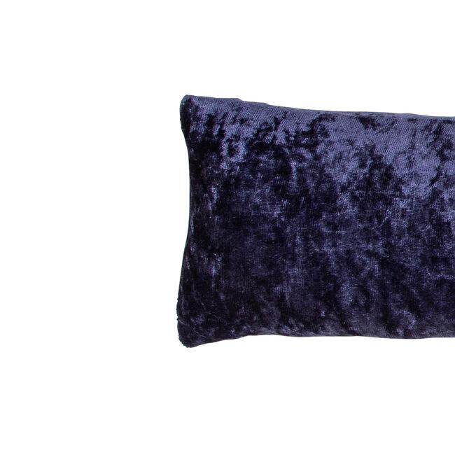 Velvet Crush Draught Excluder 22 x 90cm - Navy