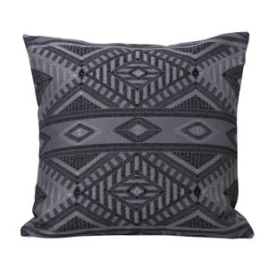 Tribal Cushion 58 x 58cm - Charcoal