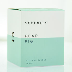 Serenity 10Oz Pear Fig Scented Candle