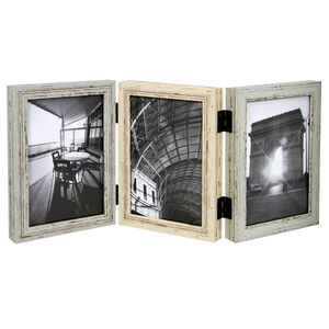 Vintage Wood Photo Frame 3 Hinged