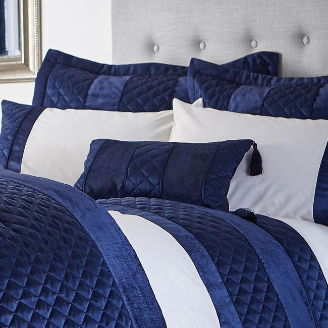 Classic Velvet Navy Cushion 30cm x 50cm