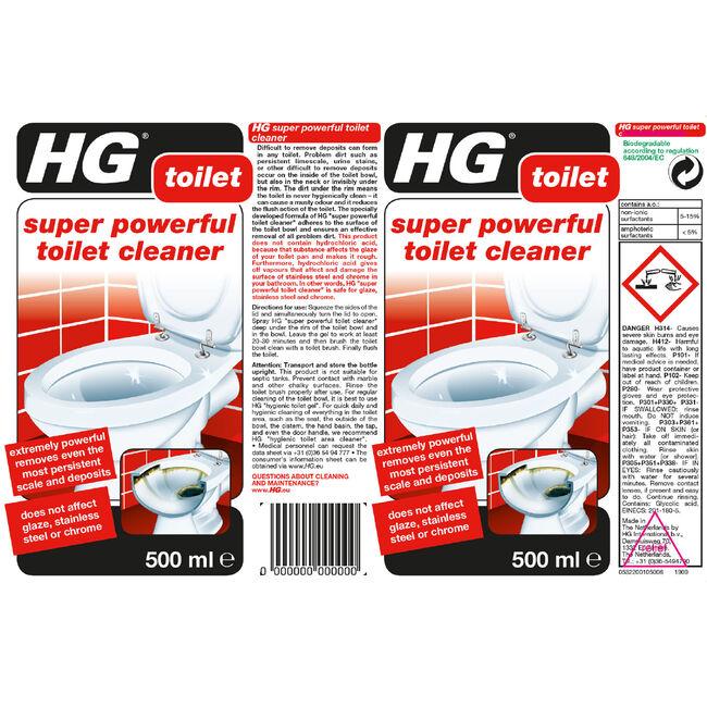 HG Super Powerful Toilet Cleaner 500ml