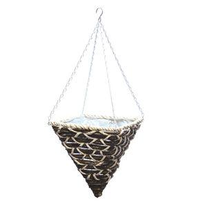 Cone-Shaped Corn Rope Hanging Basket