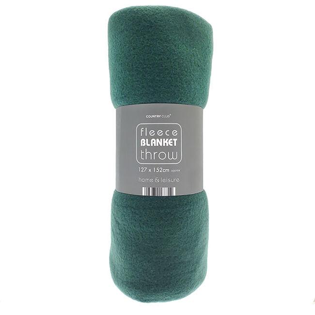 Plain Fleece Throw 127 x 152cm
