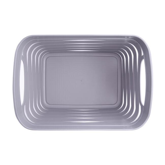Ribbon Storage Basket 4L - Soft Grey