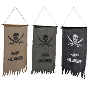 Happy Halloween Pirate Emblem Banner