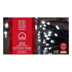 200 White Outdoor LED Timer Lights