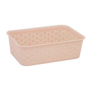 Geometric 1.5L Blush Basket