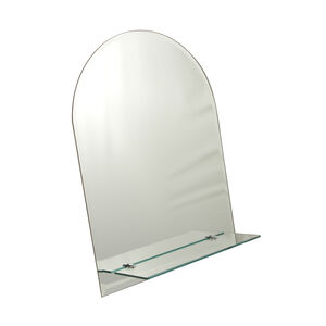 Tema Bevelled Shelf Mirror Curved