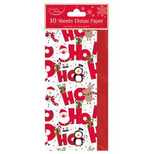 Ho Ho Ho Design Christmas Tissue Wrap