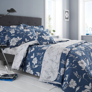 SINGLE DUVET COVER Caroline Blue