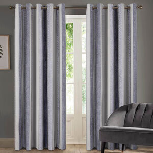 TWOHIG STRIPE CHARCOAL 66x54 Curtain
