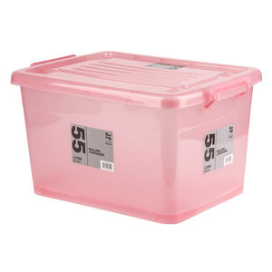 Rolling Storage Container 55L - Blush