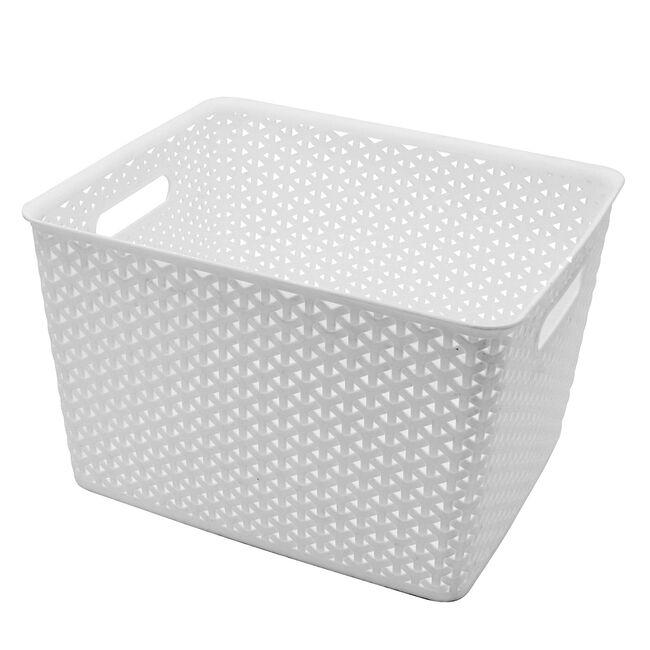 Geometric 19L White Basket