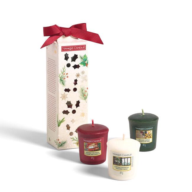Yankee Christmas 3 Votive Stocking Filler Gift Set