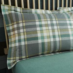 Brushed Cotton Naughton Check Oxford Pillowcases