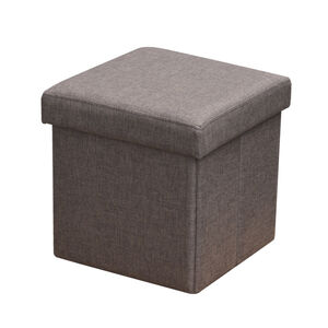 Deluxe Folding Ottoman - Nut Brown