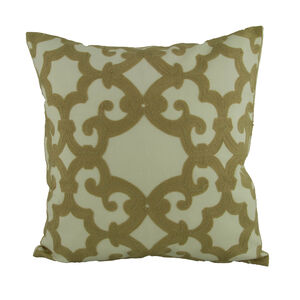 Embroidered Regal Cushion Natural 45cm x 45cm