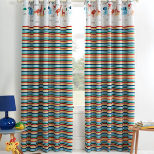 JUNGLE SAFARI MULTI 66x54 Curtain