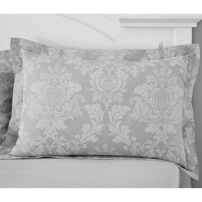 Elvira Oxford Pillowcase Pair - Grey