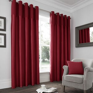 Velvet Pleat Red Curtain