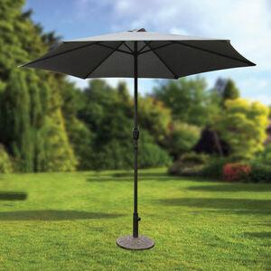 2.7m Crank Sun Parasol Grey
