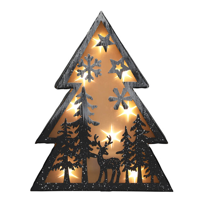 Reindeer's Light up Christmas Tree Scene