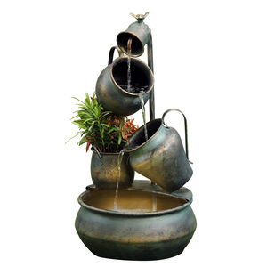 Jugs Water Fountain with LED light